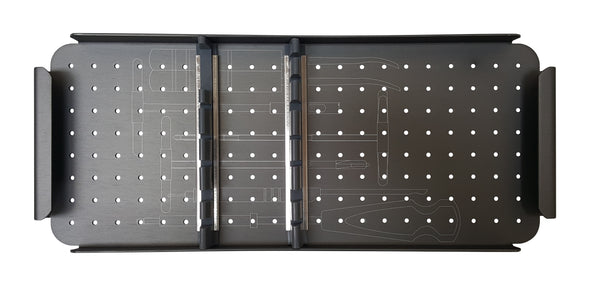 KeeboMed Orthopedic Systems Veterinary Orthopedic Instrument Case 3.5/4.0 With Screw Rack Middle Tray