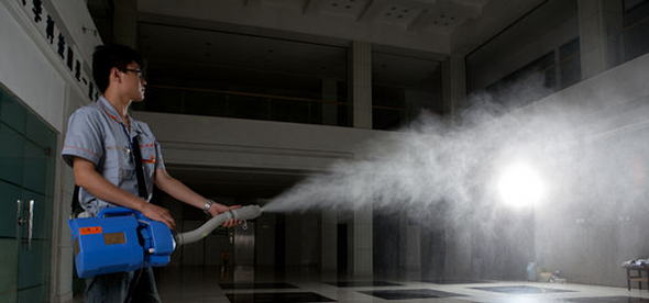 spraying disinfection