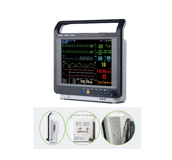 "Superior Technology Large 8"" LCD Multi-Parameter Veterinary Monitor"