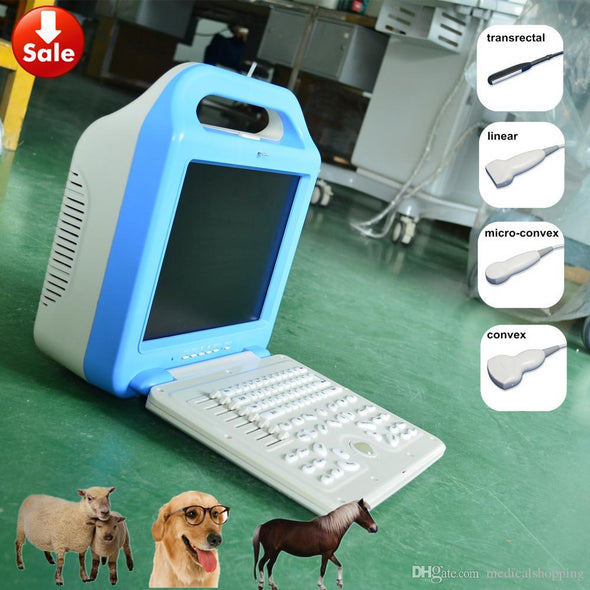 Ecografo portatil veterinario,vet ultrasound scanner A5 LCD &laptop veterinary ultrasound machine for pig, dog, cat, sheep, horse,cattle us