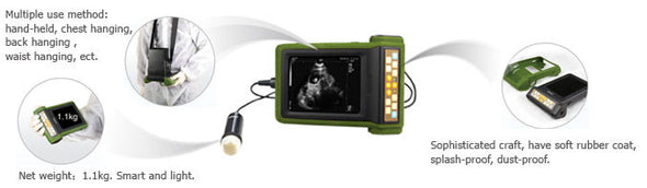 KeeboVet Palm Veterinary Ultrasound MSU-2 Features