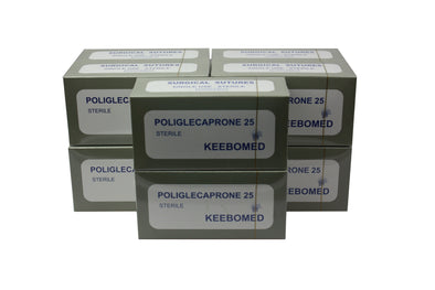 KeeboVet Veterinary Ultrasound Equipment Sutures LOT OF 10 BOXES - SURGICAL SUTURES POLIGLECAPORONE 25