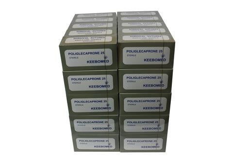 KeeboVet Veterinary Ultrasound Equipment Sutures LOT OF 50 BOXES - SURGICAL SUTURES POLIGLECAPORONE 25