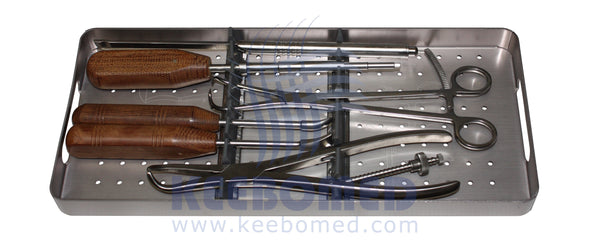 Keebomed Orthopedic Systems Large Orthopedic 4.5/6.5mm Set - Instruments Only