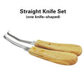 Hoof Knife Knives Double hv3n Edge Blade Farrier Equine Horse Goat Sheep Wood Handle kit