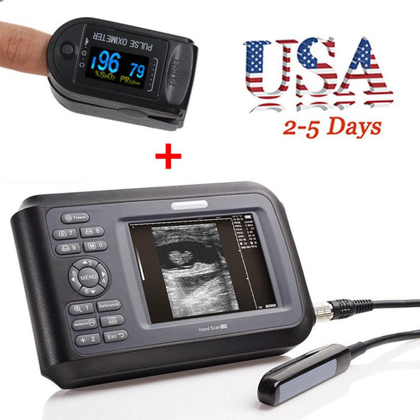 LCD Veterinary Laptop Machine Ultrasound scanner 7.5M Rectal Probe +Oximeter USA