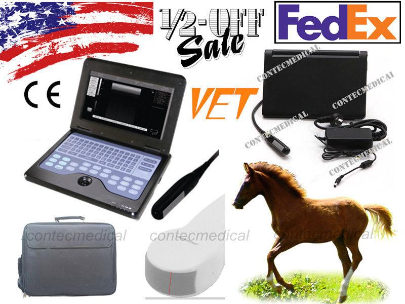 Portable Veterinary VET Laptop Ultrasound Scanner Machine Rectal+ Convex 2 Probe