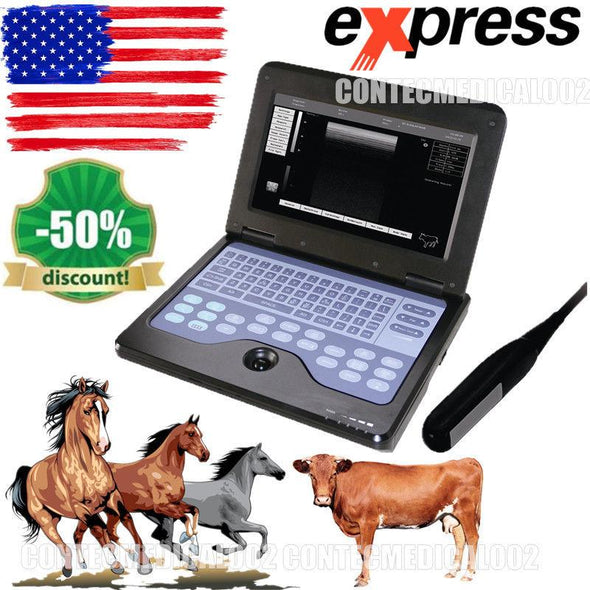 Veterinary portable Ultrasound Scanner 7.5M Rectal VET Machine cow/horse/Animal 658126923446