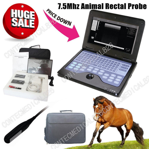 US Seller, veterinary ultrasound scanner VET Laptop Machine,COW/Horse,Rectal,NEW