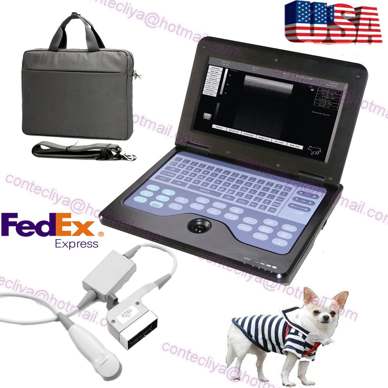 USA Portable Veterinary Ultrasound Scanner Laptop Machine+VET Micro-Convex probe 658126923446