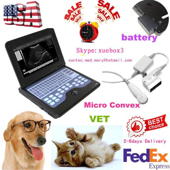 NEW Digital VET Veterinary Ultrasound Scanner Machine for Small Animal Pregnancy 658126923446
