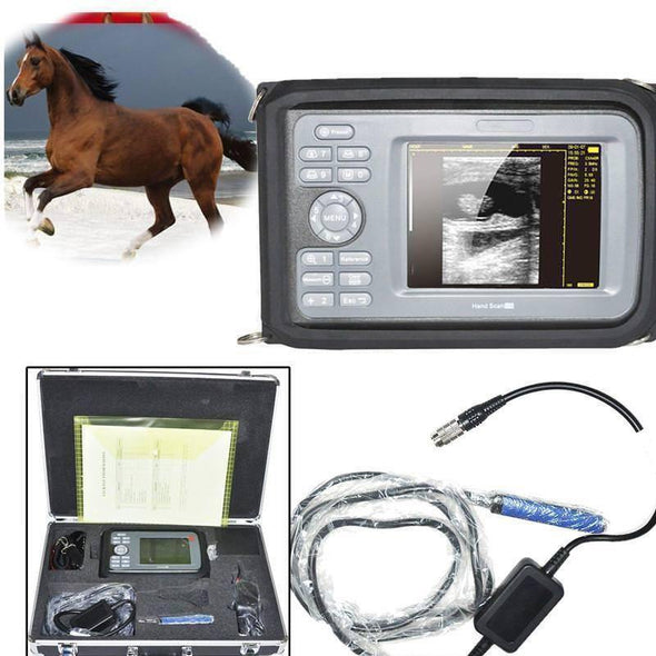 US Veterinary ultrasound scanner Machine Animal Livestock Rectal Probe Horse Cow