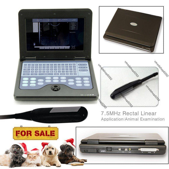 Portable Laptop VET Machine Veterinary Ultrasound Scanner,Rectal Probe,USA FedEx 658126923446