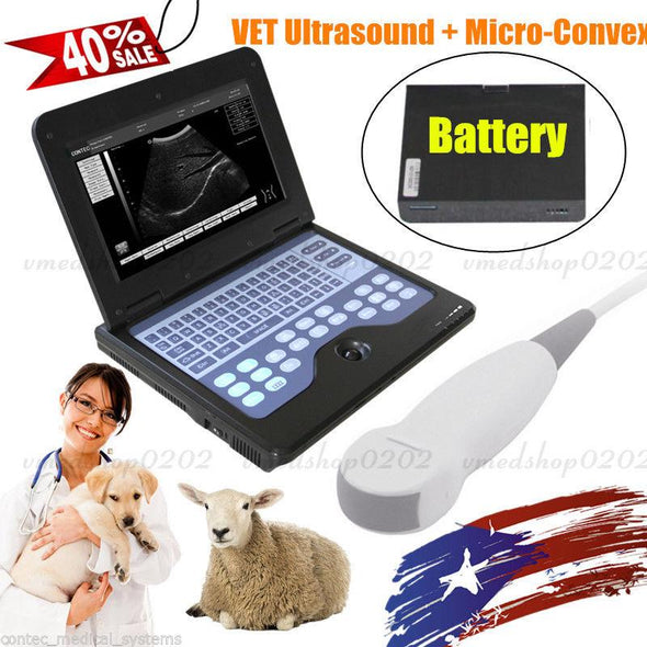 Portable VET Veterinary Ultrasound Scanner Digital Laptop Machine,Dog/Cat,CONTEC 658126923446