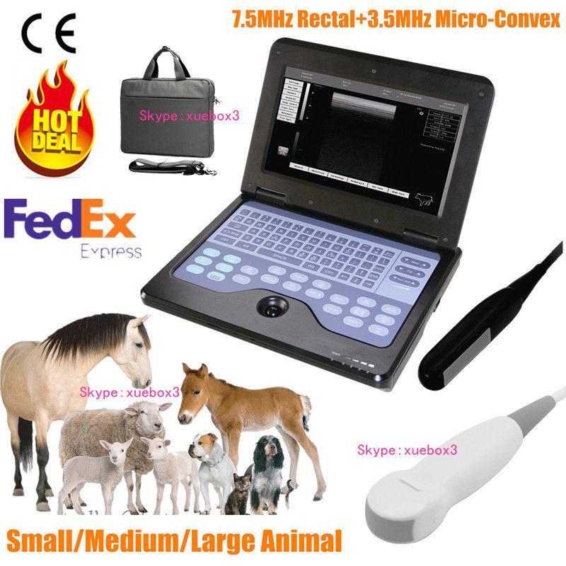 Veterinary VET Portable Ultrasound Scanner Machine,Rectal,Micro-Convex 2 Probes 658126923446