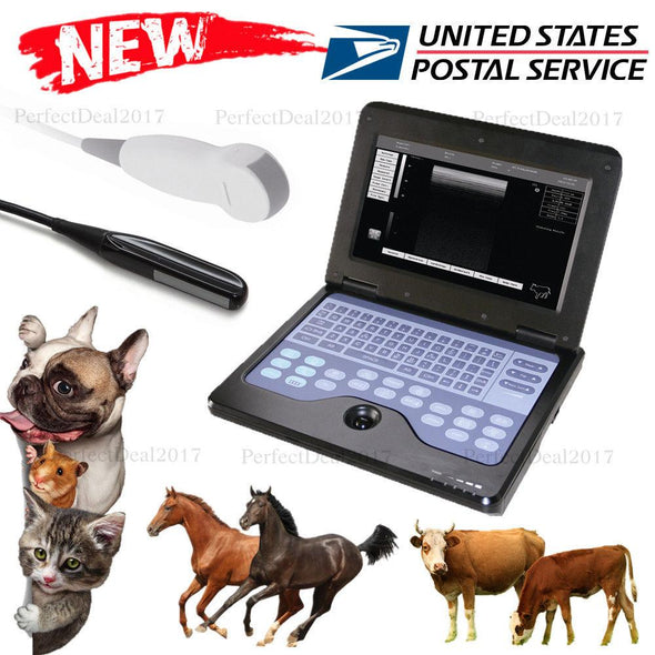 US Seller,Portable Veterinary Ultrasound Scanner Laptop Machine VET 2 Probes, CE 658126923446