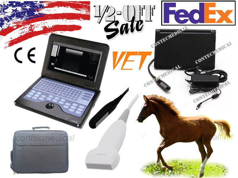 Portable Veterinary Laptop Ultrasound Scanner Machine 2 Probes Equine&Bovine/Pig 658126923446