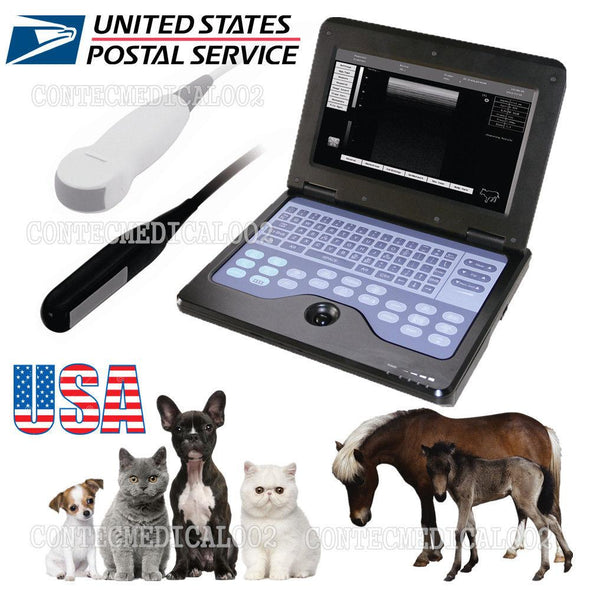 USA VET Veterinary portable Ultrasound Scanner Machine For horse/Dog,2 Probes,CE 658126923446