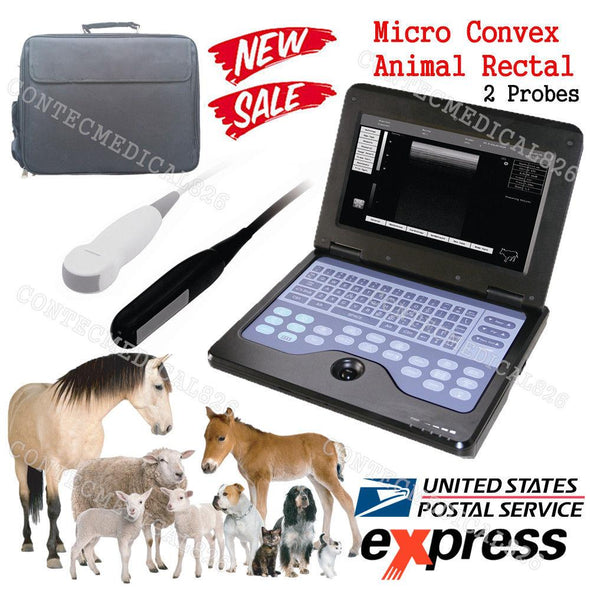US Seller,veterinary ultrasound scanner VET Machine+2 Probes,COW/Horse/Dog/Sheep 658126923446