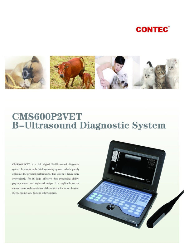 Vet Portable Ultrasound Scanner veterinary use notebook,linear,micro,convex,CE 658126923446