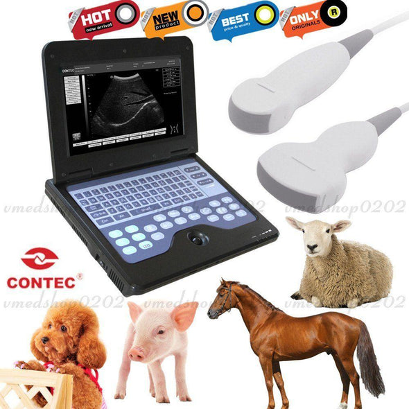 Digital Vet Machine Portable Laptop Veterinary Ultrasound Scanner with 2 probes 658126923446