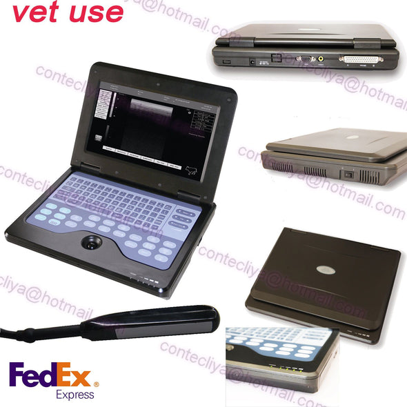 US Seller Veterinary Laptop Machine Ultrasound scanner,7.5MHZ Rectal Probe,Fedex 658126923446