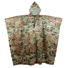 Load image into Gallery viewer, Outdoor Military Breathable Camouflage Poncho Raincoat