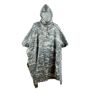Outdoor Military Breathable Camouflage Poncho Raincoat