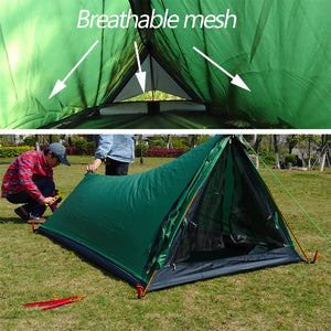 Hiking Mountain Backpacking Waterproof Single Bivvy Tent