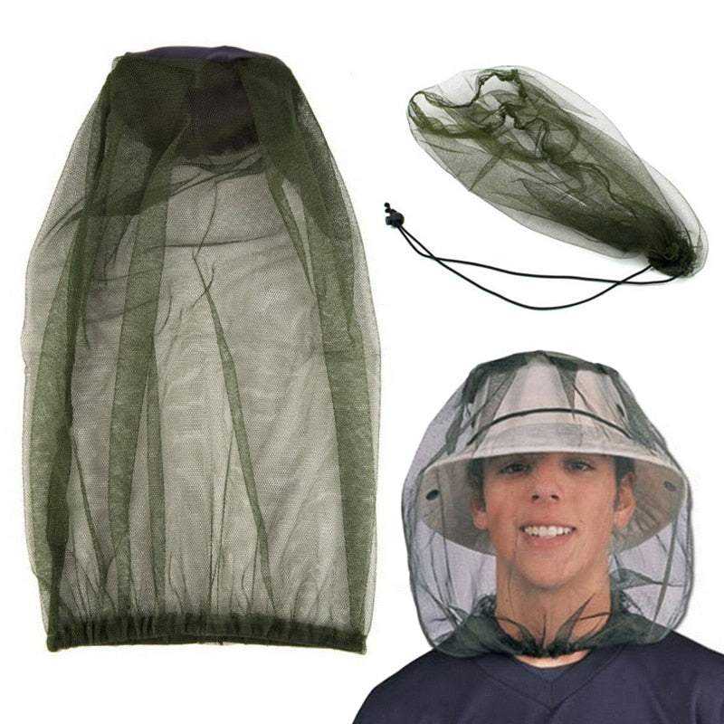 Anti Mosquito Insect Net Hat Bug Mesh Head Net Face Protector