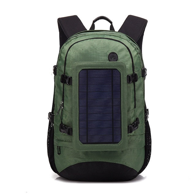 Solar Back Pack Energy Usb Charger Outdoors Travel Bug Out Bag Backpack
