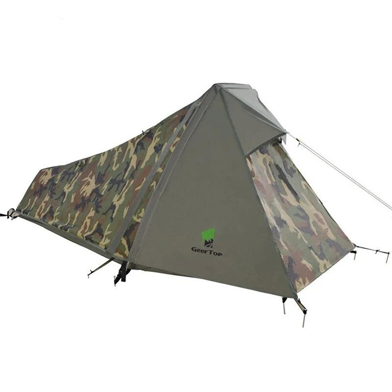 One Person Tent 3-4 Season Ultralight Waterproof Army Bivvy Tents