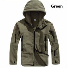 Load image into Gallery viewer, Military Thermal Fleece Tactical Jacket Outdoor Survival Hooded Coat