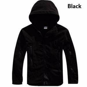 Military Thermal Fleece Tactical Jacket Outdoor Survival Hooded Coat