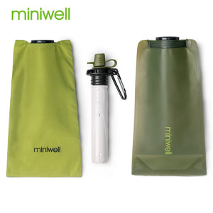 survival outdoor portable water purifier good for hiking,camping