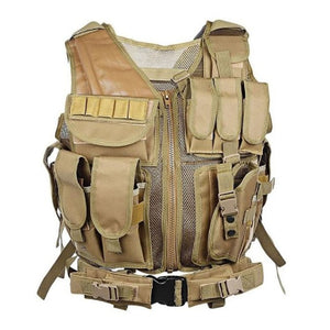 Tactical Vest Military Combat Armor Adjustable Armor Outdoor Training