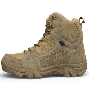 Outdoor Hiking Tactical Combat Army Boots Waterproof Anti-Slip Breathable
