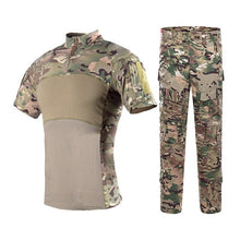 Load image into Gallery viewer, Military  Camouflage Tactical Suits Short Sleeve Brand Cotton Breathable Combat Frog Set