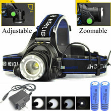 Load image into Gallery viewer, Rechargeable  LED Tactical Headlamp