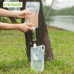 Miniwell Personal Straw Water Filter Survival Equipment For Drinking Water