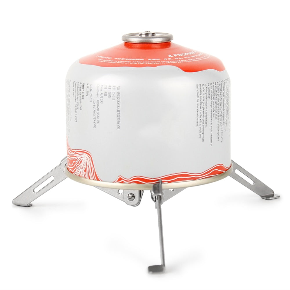 Outdoor Stove Canister Stabilizer Gas Stand Fordable Cartridge Tripod Support