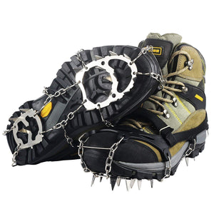 Outdoor Tactical Climbing Crampons  Walk 18 Teeth Manganese Steel Slip Shoe