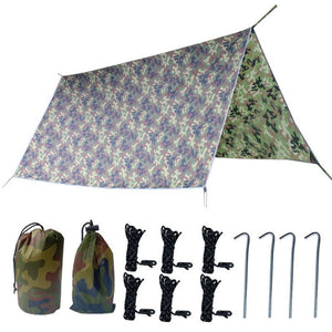 300X300cm Camping Survival Sun Shelter Shade Waterproof  Protection Tarp