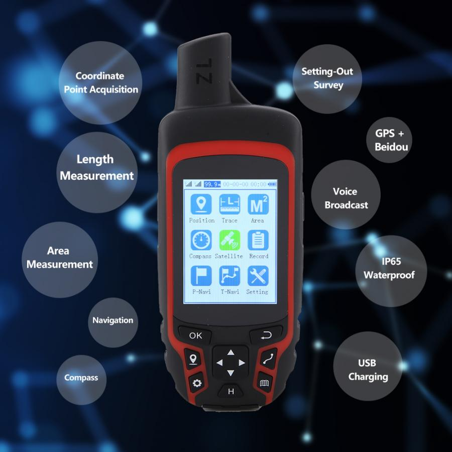 Handheld Survival GPS Navigation Compass Outdoor USB Rechargeable