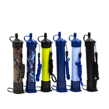 Load image into Gallery viewer, Survival Water Filter Straws Outdoor Camping Hiking Tactical Emergency Straw