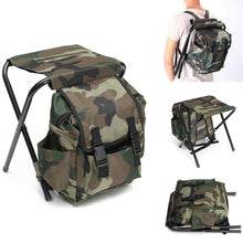 Load image into Gallery viewer, Fold-able Fishing Chair Backpack Portable  Outdoor Camping Chair