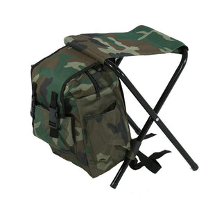 Fold-able Fishing Chair Backpack Portable  Outdoor Camping Chair