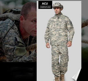 Outdoor Training Army Military Tactical Uniform  ACU Combat Uniform