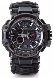 Outdoor Survival Gear Tactical Watch Multi-functional Waterproof
