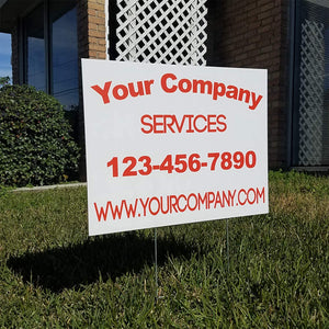 Custom Yard Signs FREE Stakes - Commercial Signs